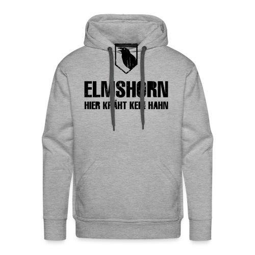 elmshorn kraehe w b transparent - Männer Premium Hoodie