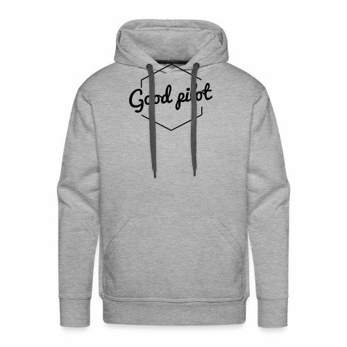 GOOD PILOT (noir) - Sweat-shirt à capuche Premium pour hommes