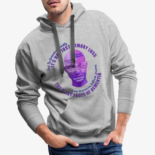 The Many Faces of Dementia - Men's Premium Hoodie