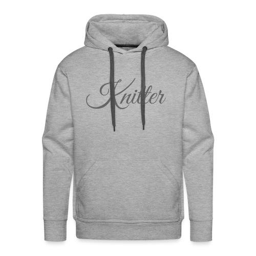 Knitter, dark gray - Men's Premium Hoodie