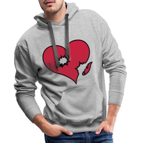 heart love explosion - Mannen Premium hoodie
