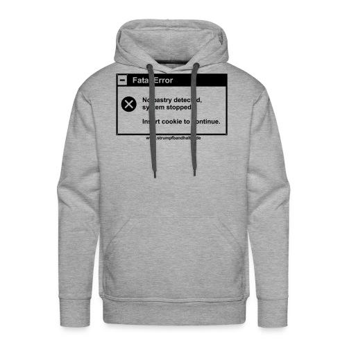 T-Shirt Insert Cookie - schwarzer Aufdruck - Männer Premium Hoodie