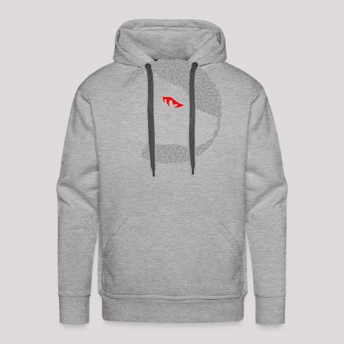 Pulldogs-Kopf Grey'n'red - Männer Premium Hoodie