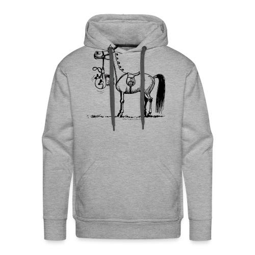 Thelwell Cartoon Stures Pony - Männer Premium Hoodie