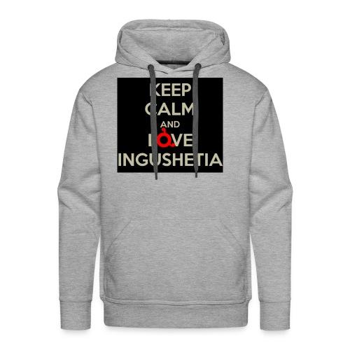 keep calm and love ingushetia - Sweat-shirt à capuche Premium pour hommes