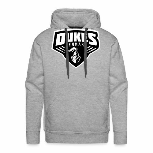 DukesDenmark 2017 hættetrøje sort/hvid logo - Herre Premium hættetrøje