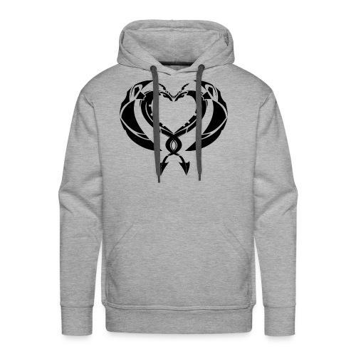 Dragons Coeur Love Dragons - Sweat-shirt à capuche Premium pour hommes