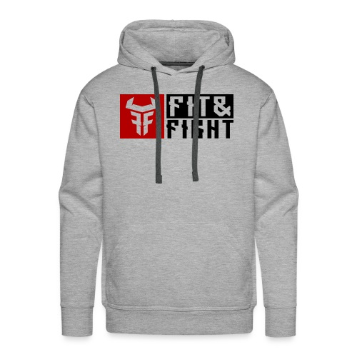 Fit Fight Bull Logo AND Typo red black 11758x4598 - Männer Premium Hoodie
