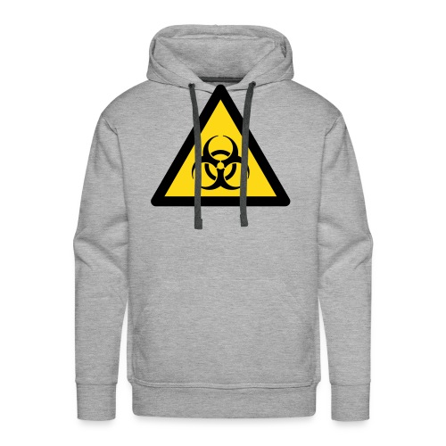 Hazard Symbol - Biohazard (2-color) - Men's Premium Hoodie