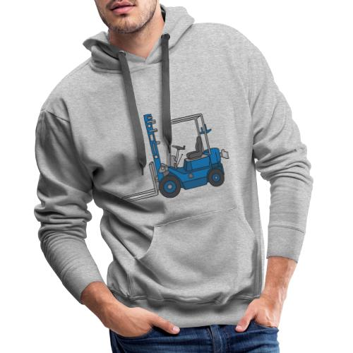 Blauer Gabelstapeler - Männer Premium Hoodie