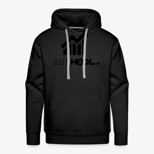 HODL-btc-just-black - Men's Premium Hoodie