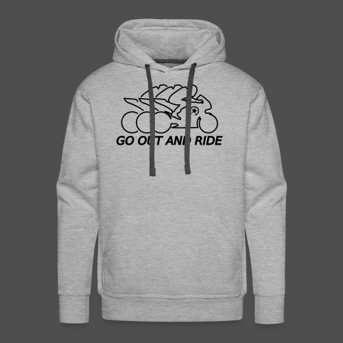 go out and ride superbike - Men's Premium Hoodie