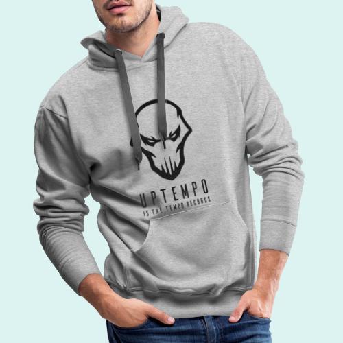 UITT RECORDS Black - Mannen Premium hoodie
