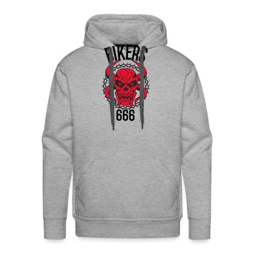 biker devil - Sweat-shirt à capuche Premium pour hommes