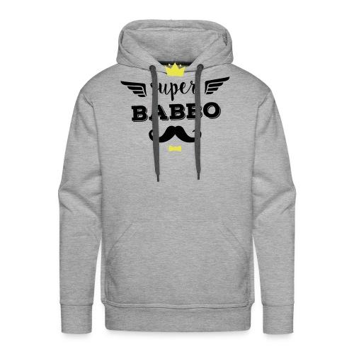 Super Babbo - Felpa con cappuccio premium da uomo