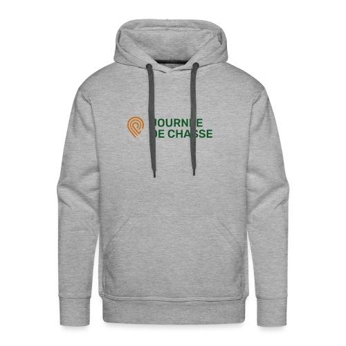 Journée de chasse - Logo couleur - Sweat-shirt à capuche Premium pour hommes