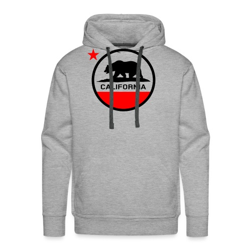 California Circle Flag - Men's Premium Hoodie