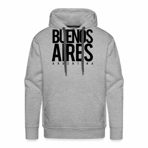 Buenos Aires Argentina - Sudadera con capucha premium para hombre