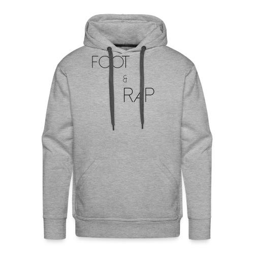 FOOTANDRAP - Sweat-shirt à capuche Premium pour hommes