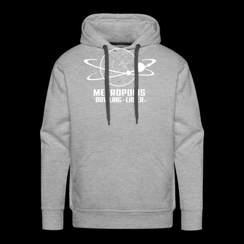 Logo blanc Staff - Sweat-shirt à capuche Premium pour hommes