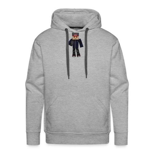 Personnage avec micro - Sweat-shirt à capuche Premium pour hommes