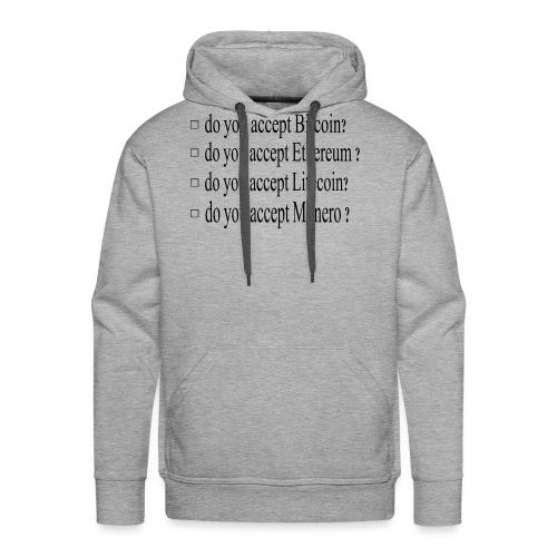 accepter - Sweat-shirt à capuche Premium pour hommes