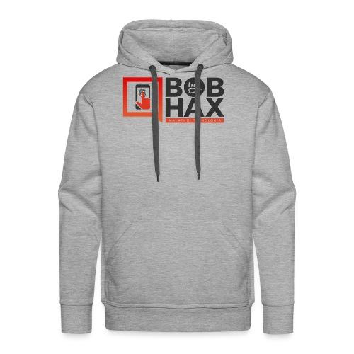 LOGO BobHax nero trasp - Felpa con cappuccio premium da uomo