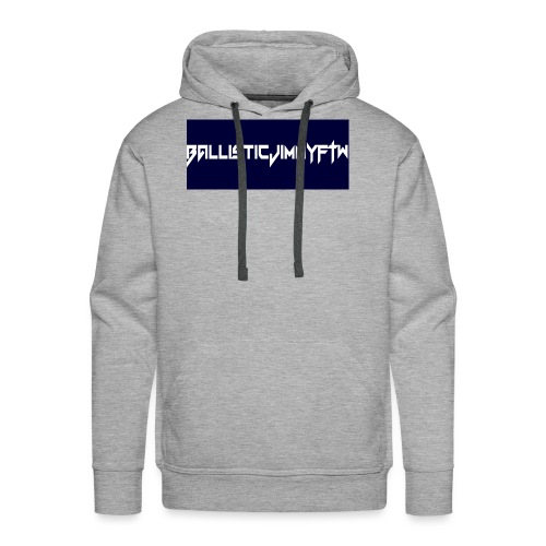 BallisticJimmyFTW Labelled Rectange White - Men's Premium Hoodie