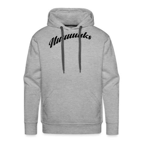 nuuuuks logo - Mannen Premium hoodie