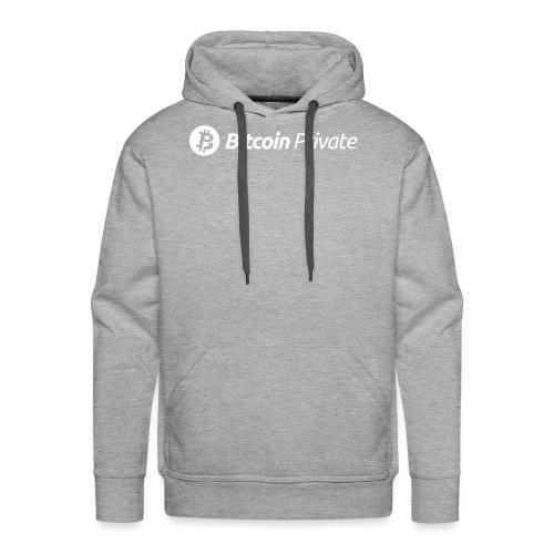 Bitcoin Private Logo White - Men's Premium Hoodie