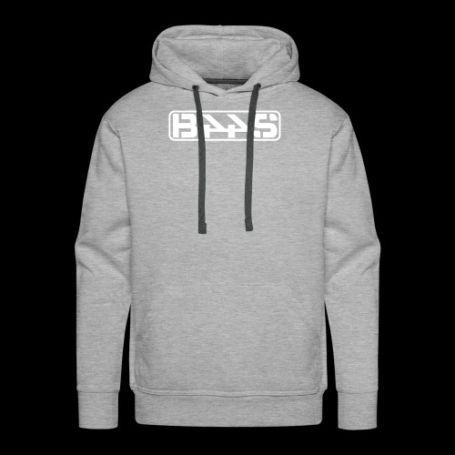 LOGO PLAIN wit transparant - Mannen Premium hoodie