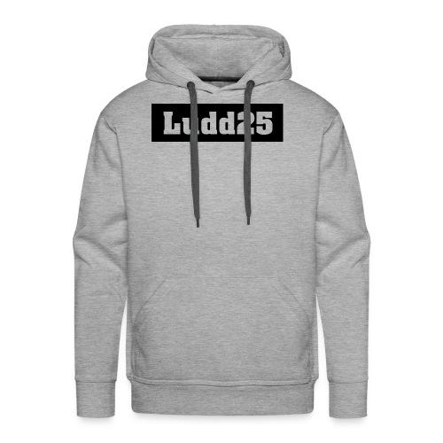 Ludd25 Logo Svart - Premiumluvtröja herr