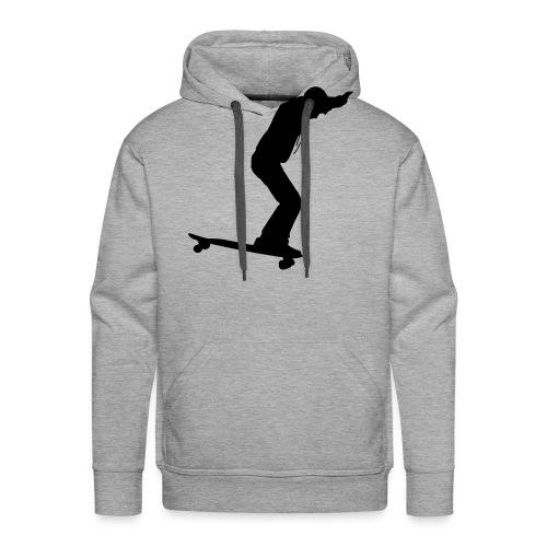 Longboarder Skate in Action - Männer Premium Hoodie