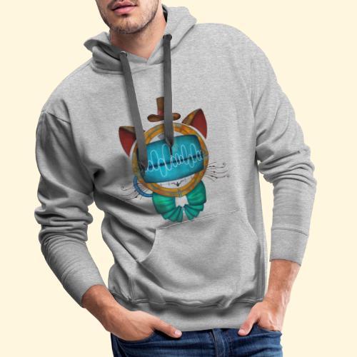 Shoupignon - Chat robot Steampunk - Sweat-shirt à capuche Premium pour hommes