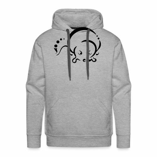 Loutre, design tribal épuré - Sweat-shirt à capuche Premium pour hommes
