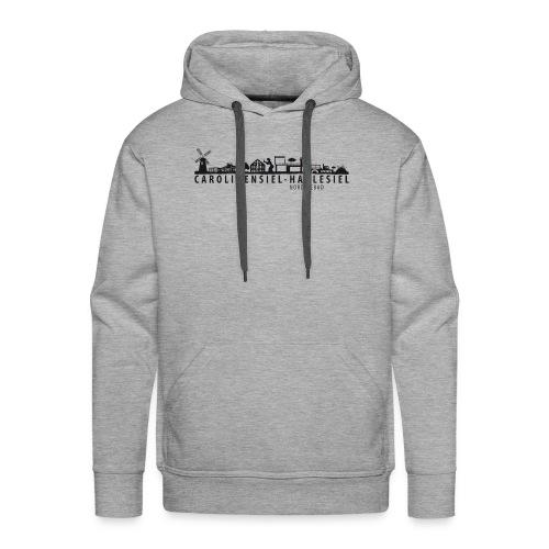 Skyline Carolinensiel-Harlesiel (schwarz) - Männer Premium Hoodie