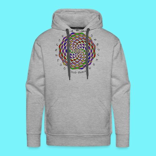 Mandala with Circle Dance words and glyphs - Men's Premium Hoodie