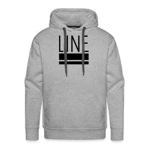 line - Felpa con cappuccio premium da uomo