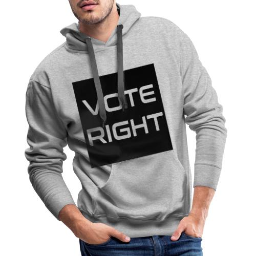 vote right - Männer Premium Hoodie