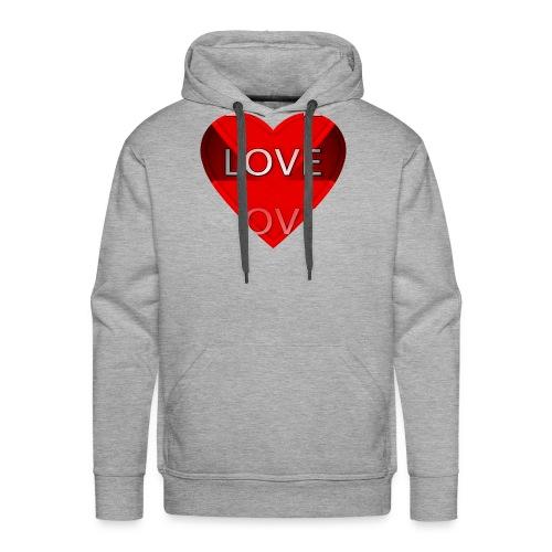 Love Pliz Corazón TM - Sudadera con capucha premium para hombre