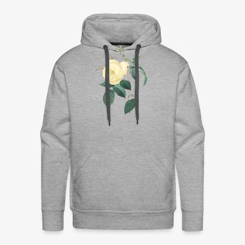 rose vintage - Sweat-shirt à capuche Premium pour hommes