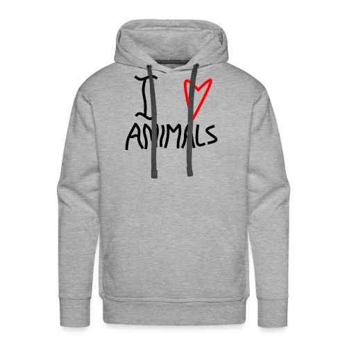 I Love Animals - Herre Premium hættetrøje