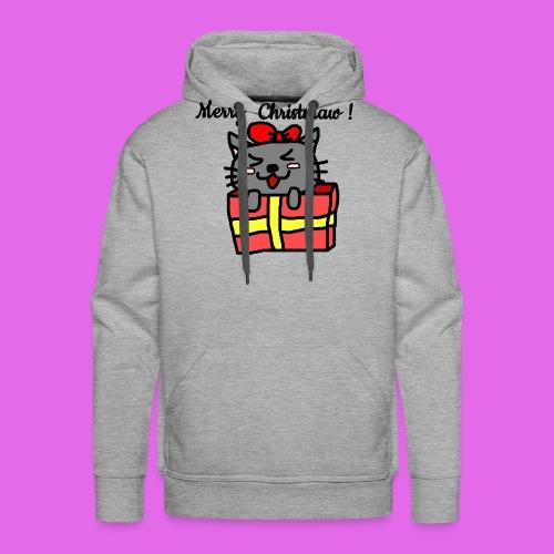 Christmas Kitty - Sweat-shirt à capuche Premium pour hommes