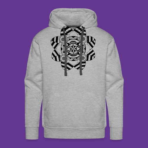 Mandala, Blume , Kunstwerk - Männer Premium Hoodie
