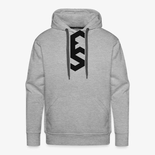Logo Eloquent Silence noir - Sweat-shirt à capuche Premium pour hommes