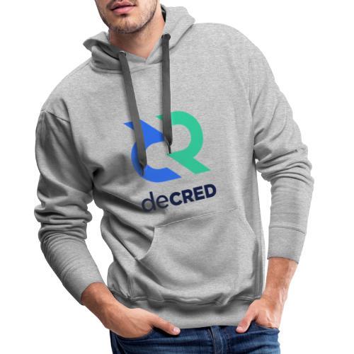 Decred logo vertical color dark - Mannen Premium hoodie