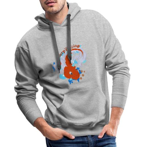 Carpa Koi - Carp Fishing - Felpa con cappuccio premium da uomo