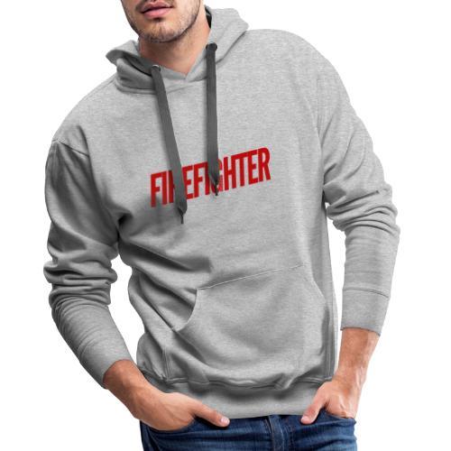 Firefighter - Premium hettegenser for menn