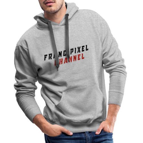 Francipixel CHANNEL - BLACK/RED - Felpa con cappuccio premium da uomo