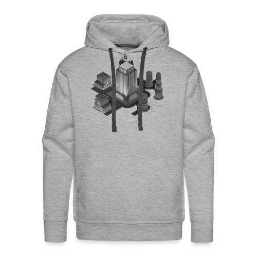 Cryptocurrency - Bitcoin Tower (BTC) - Männer Premium Hoodie